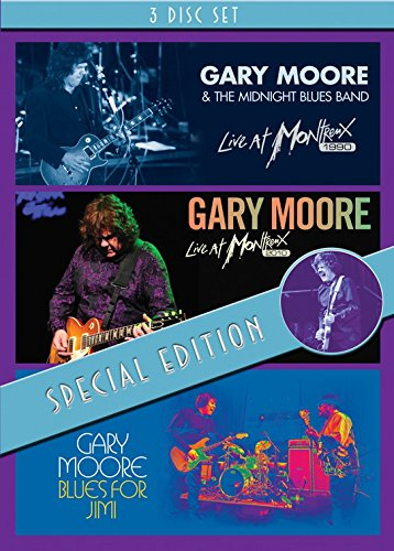 Gary Moore - Live at Montreux 1990 + Live at Montreux 2010 + Blues for Jimi (special edition)