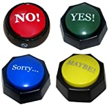 4 Total Buttons! The NO, YES, SORRY and MAYBE Buttons - SIMPLIFY YOUR LIFE WITH A BUTTON -