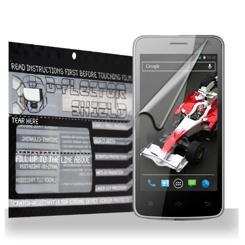 D-Flectorshield Xolo Q700I Scratch Resistant Screen Protector - Free Replacement Program front-442404