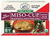Miso-Cup Organic Traditional Soup with Tofu, Single-Serve Envelopes in 4-Count Boxes (Pack of 12)