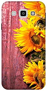 The Racoon Grip Fresh Sunflowers hard plastic printed back case / cover for Samsung Galaxy E5