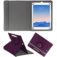 Acm Rotating 360° Leather Flip Case For Apple Ipad Air 2 Tablet Cover Stand Purple