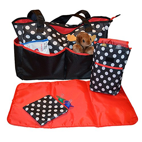 Sharebear Ladies Diaper Bag - The Best Diaper Bag for Baby Boys or Girls. Moms and Dads Will Love the 5 Large Compartments, a Changing Pad, Bottle Bag and a Pacifier Bag.