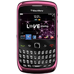 BlackBerry Curve 3G 9300 Pink on O2 Pay As You Go with £10 airtime credit