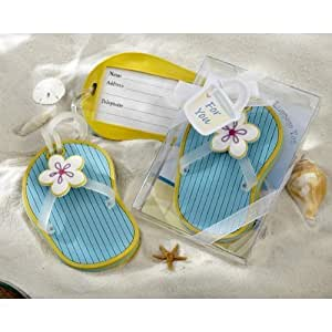 Amazon.com : Flip-Flop Luggage Tag in Beach-Themed Gift Box (pack of