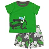 Carters Boys 2T-4T Green Alligator Short Set
