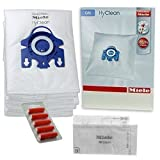 Miele GN Vacuum Hoover Bags - S2111 S8330 S8340 Cat & Dog Genuine Original Hyclean + Filters (1 Box, + 5 Air Fresheners)