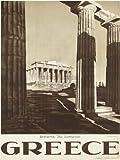 TRAVEL ATHENS GREECE PARTHENON ACROPOLIS ANCIENT COLUMN ART PRINT POSTER BB7434B