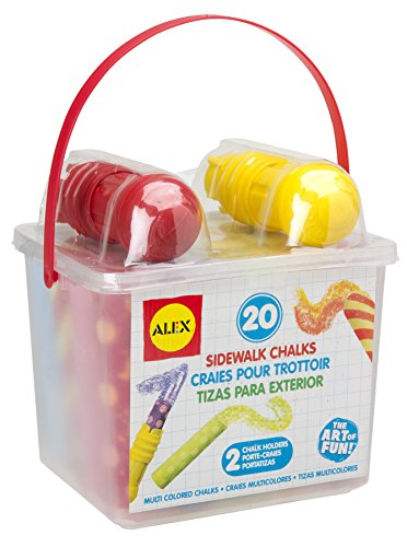 ALEX Toys Artist Studio 20 Sidewalk Chalks with Holder - 1