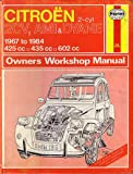 Citroen 2CV, Ami and Dyane 1967-84 Owner's Workshop Manual