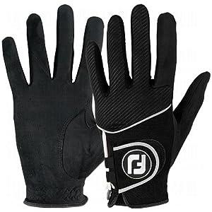 2014 Raingrip Golf Gloves, Black, Medium Large by FootJoy