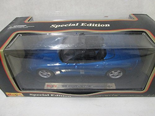 Maisto-98-Corvette-Convertible-118-Blue-by-Maisto
