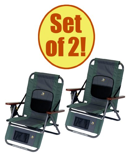 Set Of 2 - Gci Wilderness Backpack Recliner back-710594