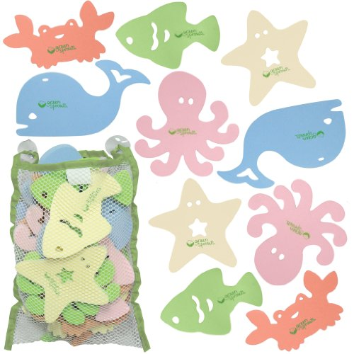 Green Sprouts 15 Pack Bath Toys, Sea Friends