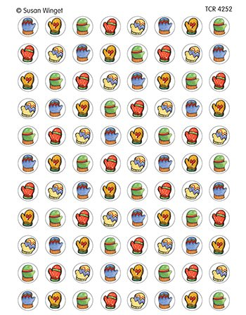 Sw Mittens Mini Stickers -- Case of 14