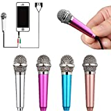 Uniwit Mini Portable Vocal/Instrument Microphone For Mobile phone laptop Notebook Apple iPhone Sumsung Android With Holder Clip - Silver (Color: Silver)