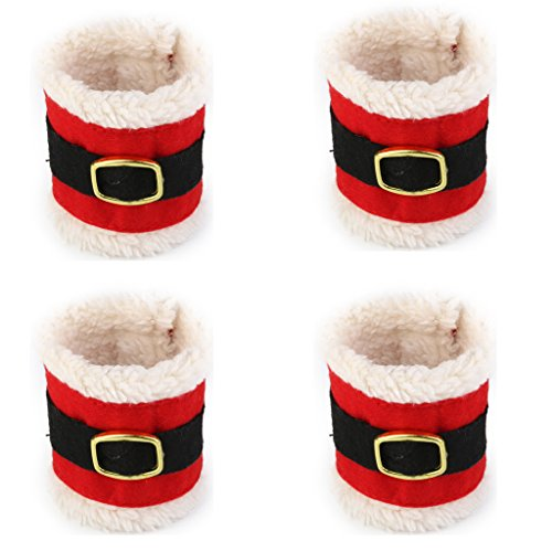 4pcs Christmas Napkin Rings Wedding Banquet Dinner Decor Serviette Holder