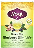 Yogi Green Tea Blueberry Slim Life, Herbal Tea Supplement, 16-Count Tea Bags (Pack of 6)