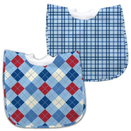 Green Sprouts 12-24 Months Best Bib Pullover, Light Blue, 2 Pack front-655641