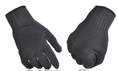 Auto guanti difesa paramano Pandaren con configurazione in filo di acciaio inossidabile per l'anti coltello lavoro di sicurezza anti Slash Cut prorection resistente (1 coppia, 27,5 centimetri x 11cm)