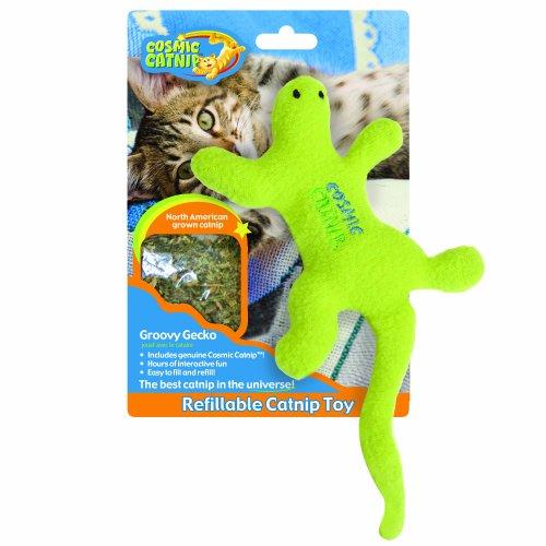 100-Percent Catnip Filled Lizard Cat Toy, Groovy