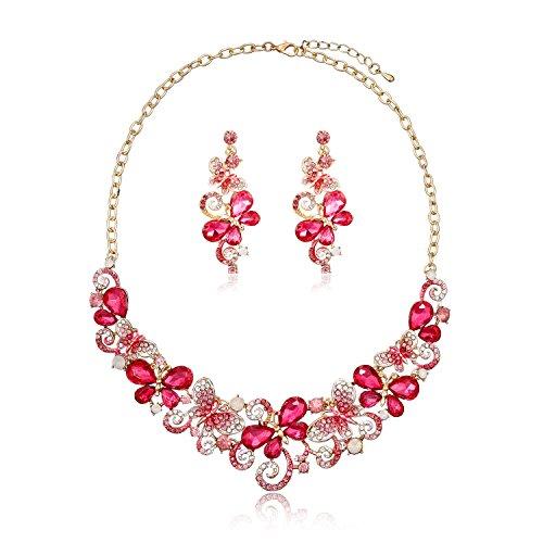 houda-femme-hot-fleurs-en-cristal-rose-collier-ras-du-cou-et-boucles-doreilles-jeux-papillon-pour-fe