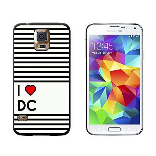 I Love Heart Dc - Washington - Snap On Hard Protective Case For Samsung Galaxy S5 - Black front-574346
