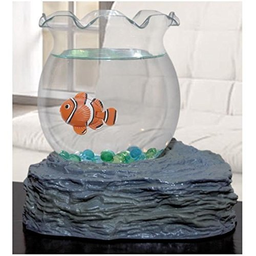 Fish Bowl With Swimming Fish - 1