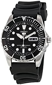 Seiko Men's SNZF17K2 Series 5 Rubber Strap Watch