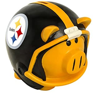 NFL Pittsburgh Steelers Resin Large Helmet Piggy Bank at Steeler Mania