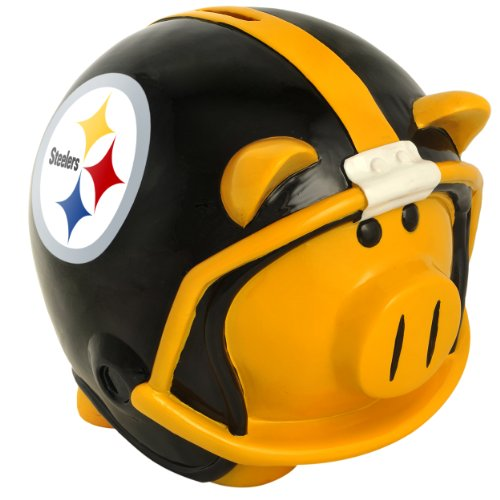 NFL Pittsburgh Steelers Resin Large Helmet Piggy Bank at Steeler Mania