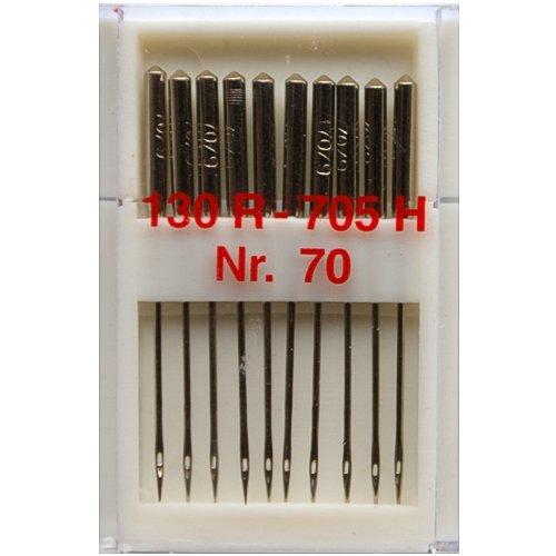 10 Nähmaschinennadeln Universal Nr.70 Flachkolben 130R/705H für Nähmaschine, 0351