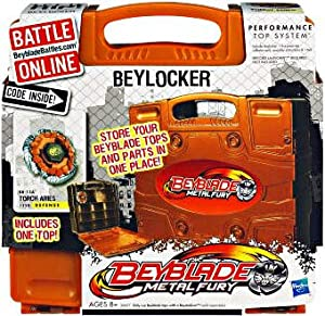 Beyblades ORANGE BeyLocker Includes Torch Aries!