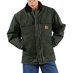 Carhartt Men\'s C26 Sandstone Duck Arctic Traditional Coat - Quilt Lined - 5X-Large Regular - Moss