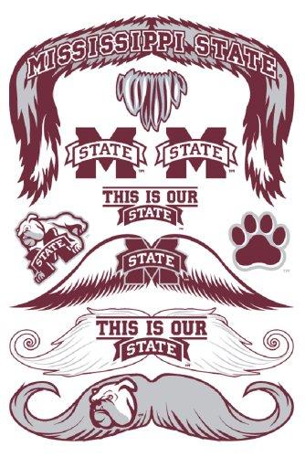 StacheTATS Mississippi St. Temporary Mustache Tattoos - 1