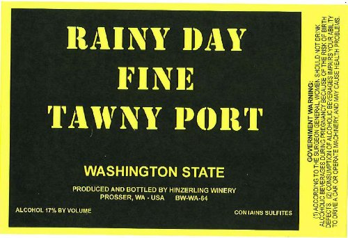 "Nv Hinzerling Winery ""Rainy Day"" Fine Tawny Port 750 Ml"