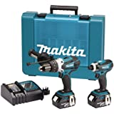 Makita DK18000 18V LXT Lithium-Ion Cordless Kit with 2 x Batteries (2 Pieces)