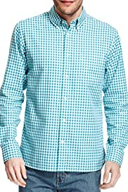 Pure Cotton Gingham Checked Oxford Shirt [T25-3145M-S]