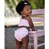 ラッフルバッツ(RuffleButts)女の子用ベビーピンクxドットフリフリビキニ水着上下セット 5years 5歳用 110cm-120cm ベビー,子供,出産祝いギフトプレゼント【並行輸入】
