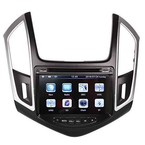 8 Inch Touch Screen Car GPS Navigation for CHEVROLET CRUZE 2013-2016 Stereo DVD Player Video Radio Audio Bluetooth Steering Wheel Control AUX IN+Free Rear View Camera+Free GPS Map of USA (Chevy Cruze Gps compare prices)