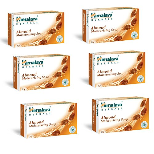 #9: Himalaya Herbals Almond and Rose Soap, 125g (Pack of 6)