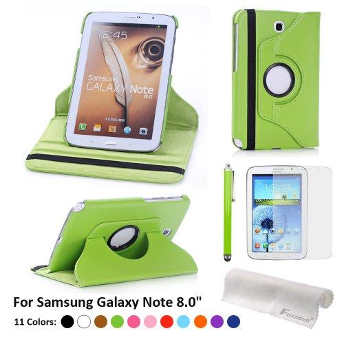 Foxnovo Pu Leather Case & Stylus Pen & Screen Guard & Cloth Set For Samsung Galaxy Note 8.0 N5100 / N5110 / N5120 T310 / T311 / T315 Samsung Galaxy Tab 3 10.1 P5200 / P5210 Samsung Galaxy Tab 3 8.0 T310 / T311 / T315 (Samsung Galaxy Note 8.0 N5100 /N5110