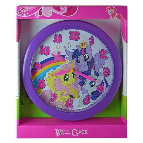 My Little Pony Clock 10 Wall Clock: Wall Clock Quartz Accuracy, Easy Wall Mounting. Battery Operated Requires 1 Aa Battery (Not Included)