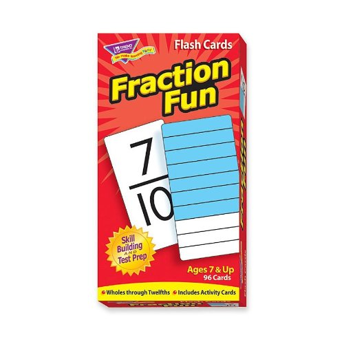 Trend Enterprises 53109 Fraction Fun Flash Cards, 96/BX - 1