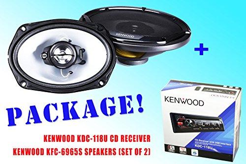 Package ! Kenwood Kdc-118U Cd-Receiver + Kenwood Kfc-6965S Speakers