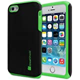 GreatShield Apple iPhone 5 / 5S / 5C [NEON Series] PC + Silicone Protective Dual Layer Hybrid Cover Case (Green)