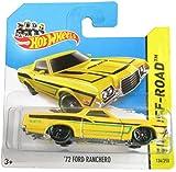 Hot Wheels 2014 Hw Off-Road Yellow '72 Ford Ranchero 134/250 on Short Card