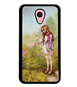 Printvisa Girl In A Garden Back Case Cover for Meizu m1 note