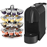 Nespresso U Pure Black Espresso Machine with Bonus 40 Capsule Carousel