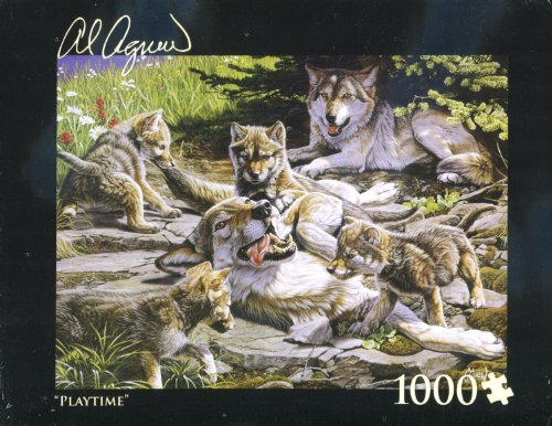 Al Agnew Wolves - Playtime - 1000 Piece Puzzle